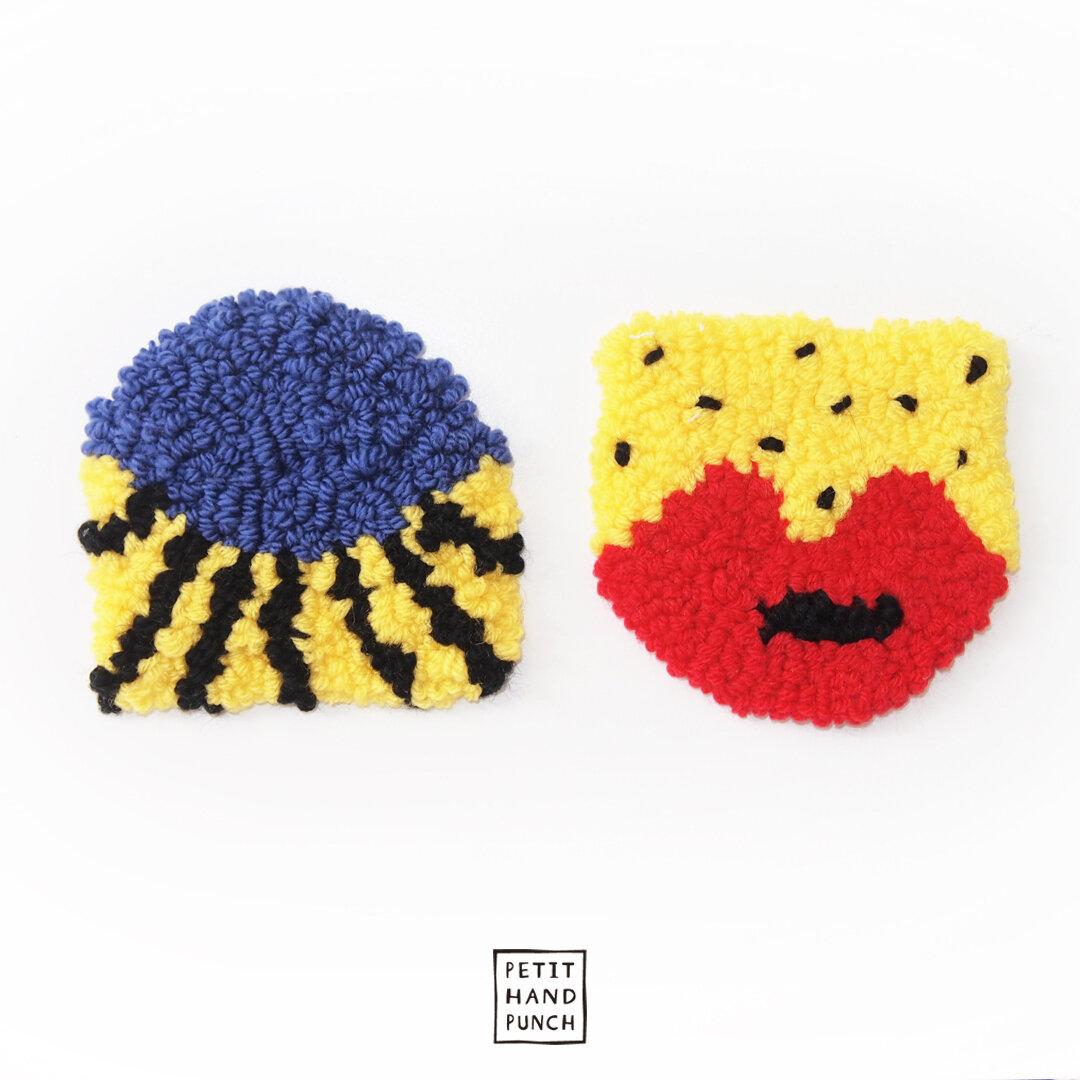 【2枚セット】絨毯 コースター   make up