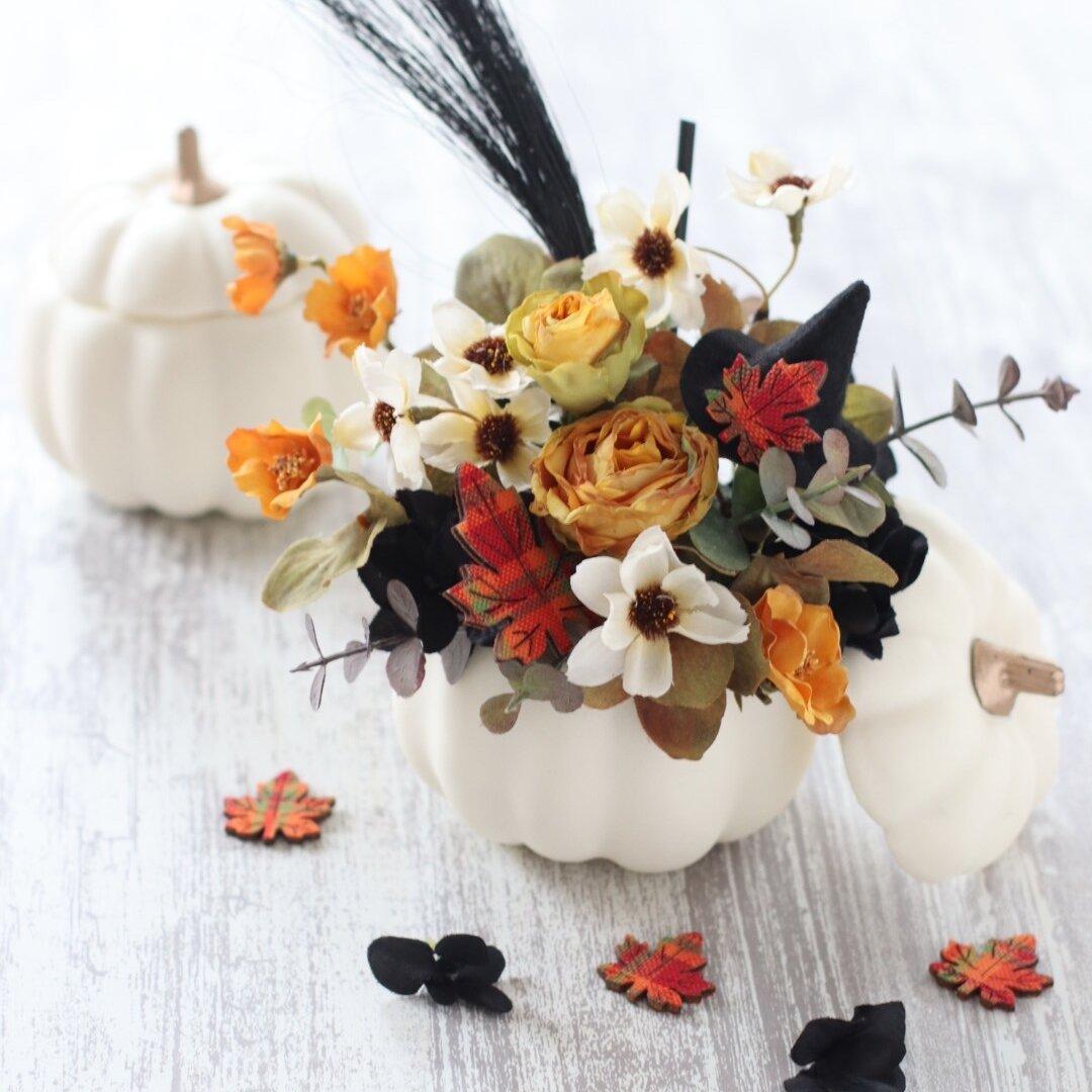 ホワイトかぼちゃのハロウィンアレンジ