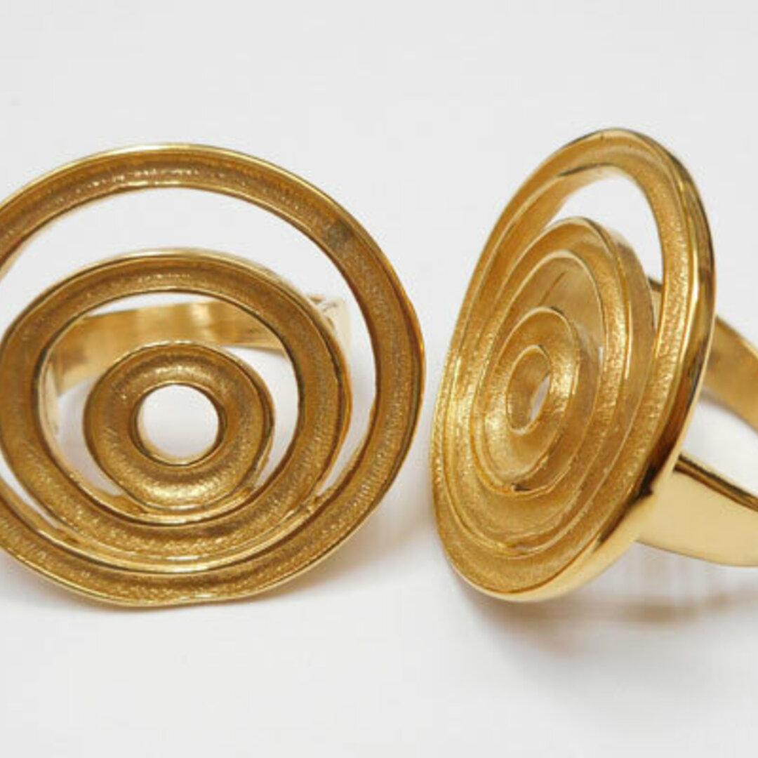 S◆P Hタイプ 指輪 ハンドメイド素材 316Lステンレス ゴールド 18mm(約16号)