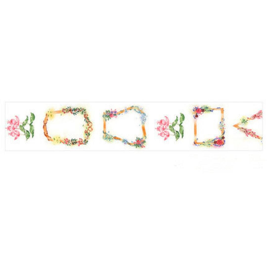 花環 優しいお花の和紙マスキングテープ
