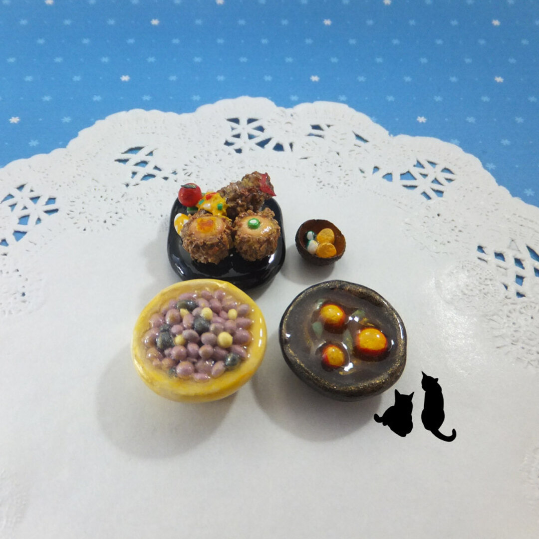 送料無料 ミニチュアフードの和食セット