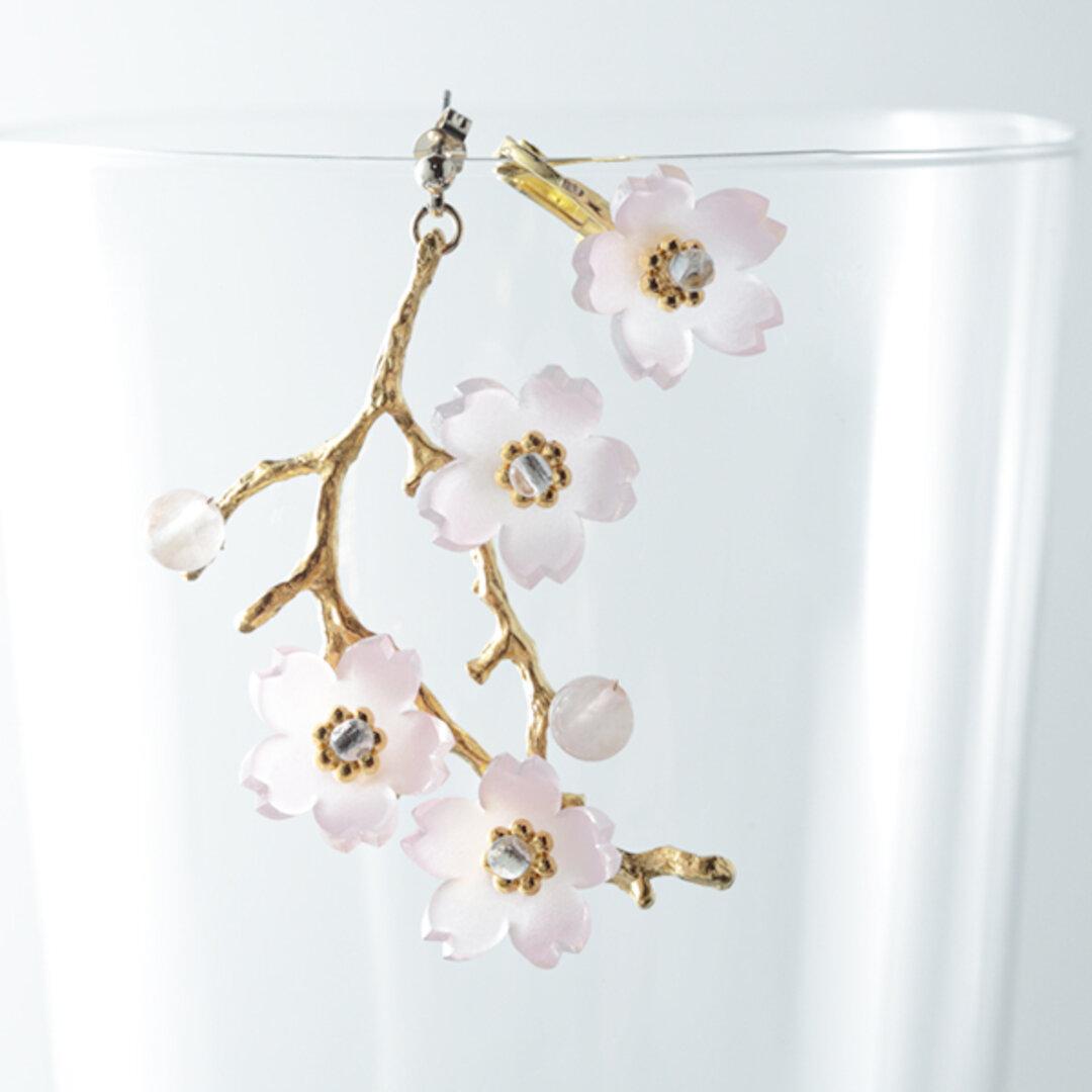 桜の枝ピアスorイヤリング