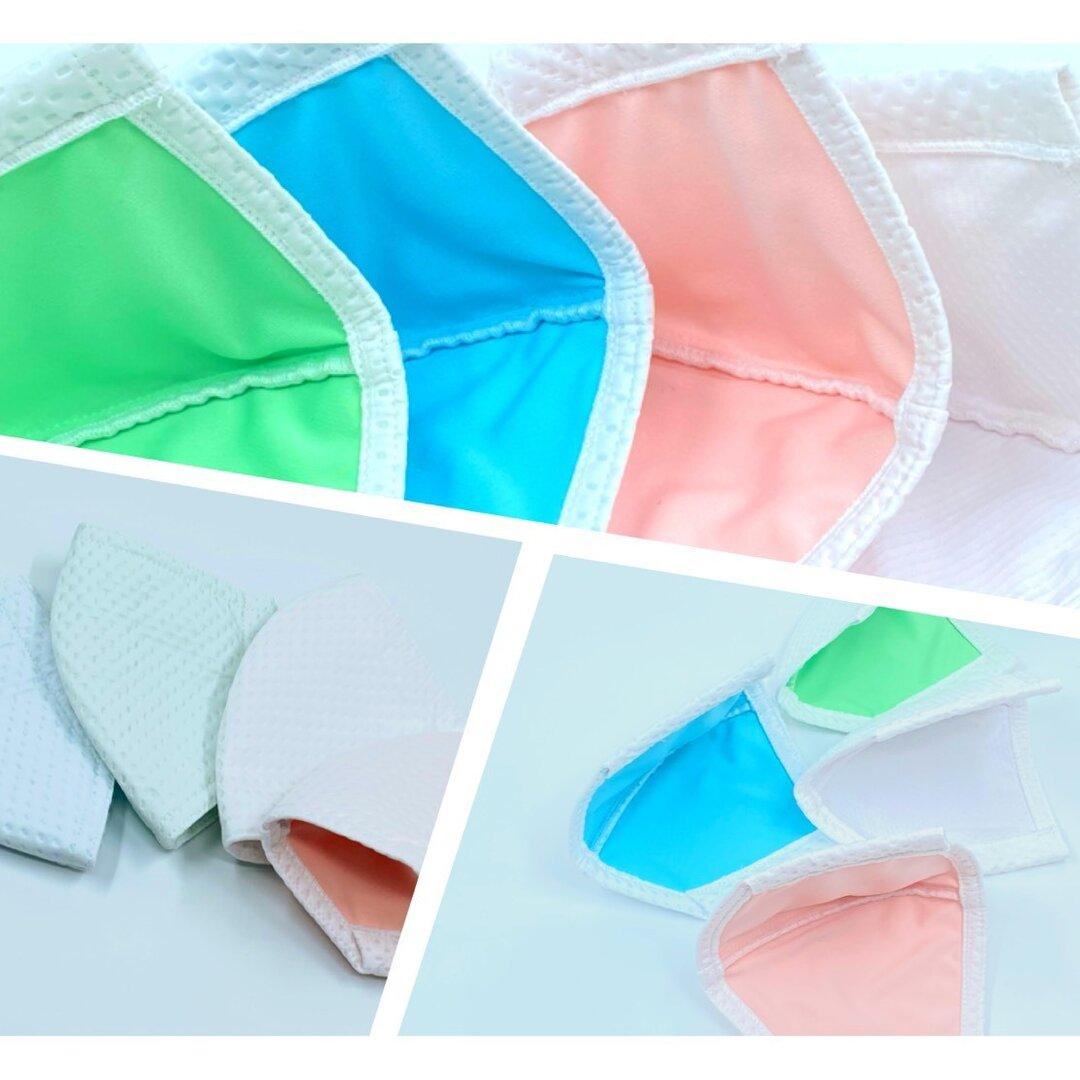 吸水速乾!選べる裏地4色カラー 接触冷感の動けるマスクで快適に運動! 特殊素材+銀イオン【抗菌・防臭・速乾】