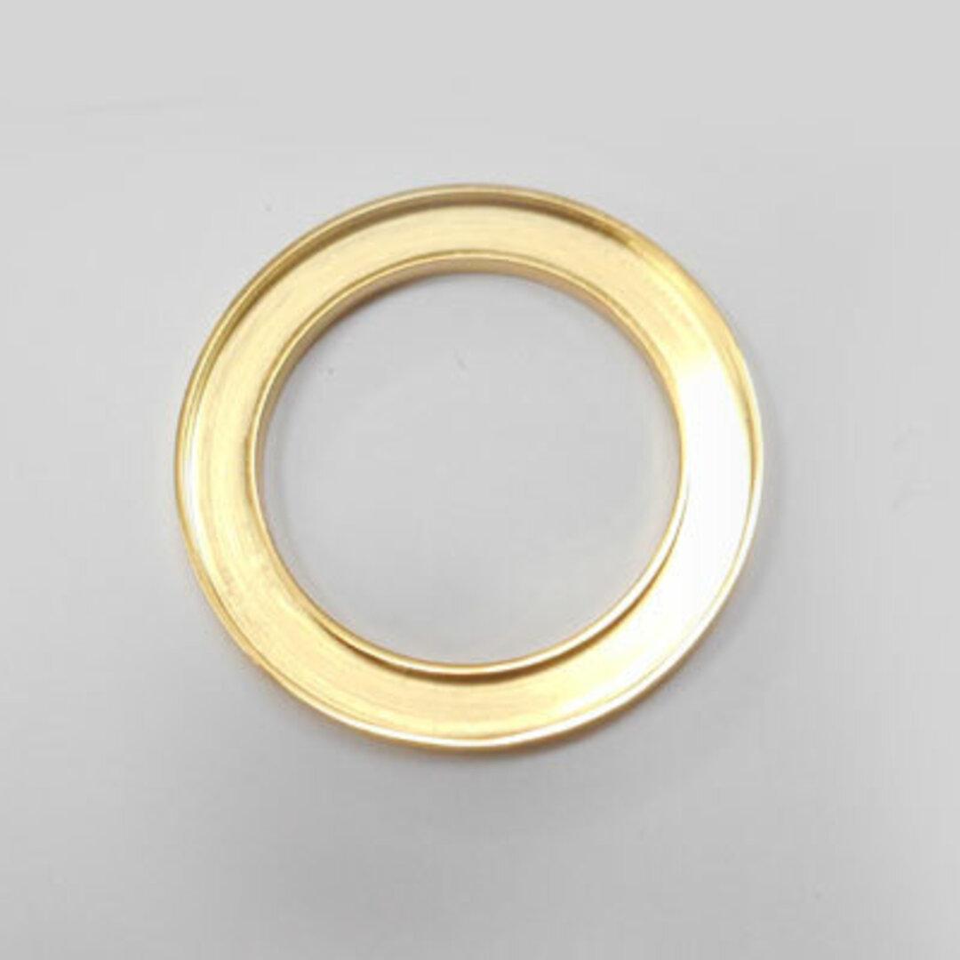 S◆Pキラキラ アクセサリー パーツ サークル 円形 チャーム 外径:28.0mm 手作り (ハンドメイド) ペンダントフレーム パーツ ステンレス316L (ゴールド)