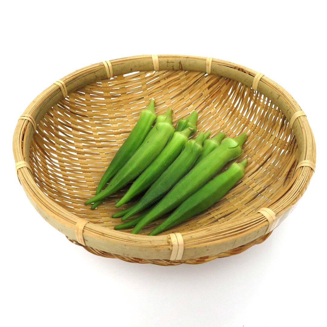 自然農法 オクラ 約500g 無農薬 無肥料 新鮮野菜 旬野菜 野菜セット 通販