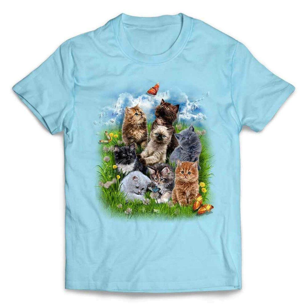 半袖Tシャツ 【猫 ねこ 花 蝶々 公園】 by FOX REPUBLIC
