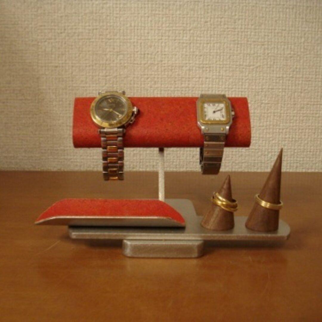 腕時計 飾る レッド腕時計&リングスタンド 受注販売 No.130316