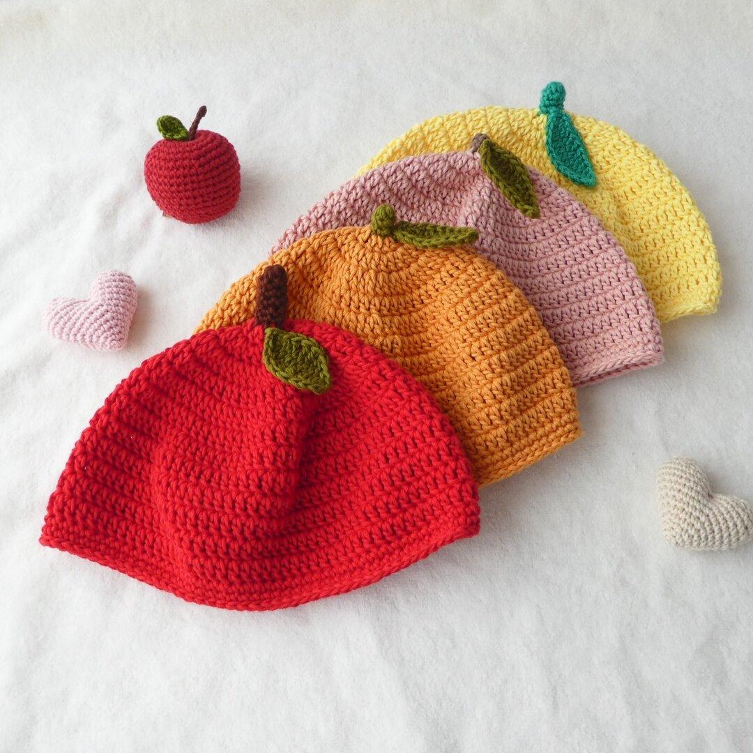 まぁるい果物帽子