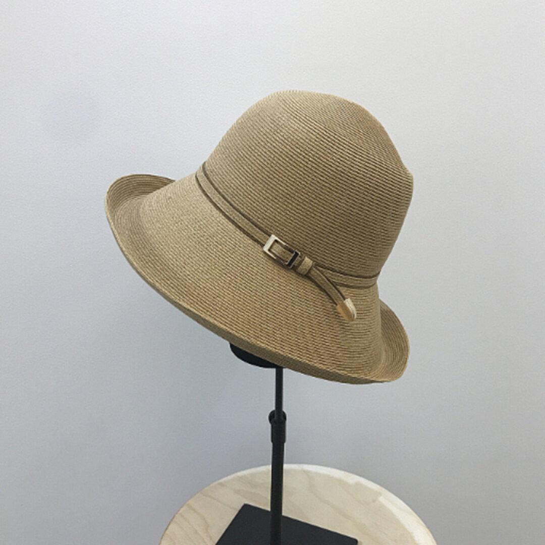 帽子☀ハンドメイド 夏のお出かけ レディース ハット 夏帽子 アウトドア 夏 ストローハット 日よけ帽子