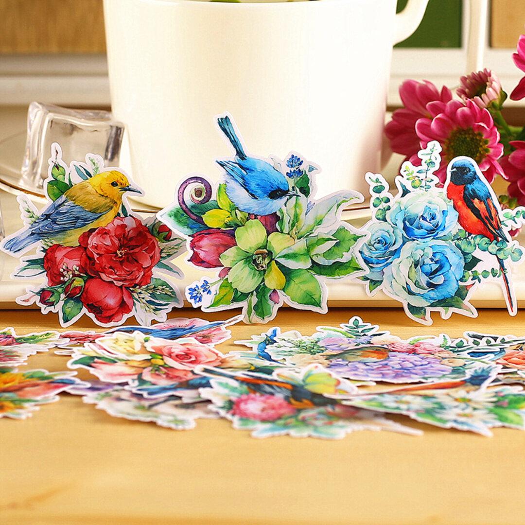 幸せ 青い鳥のフレークシール