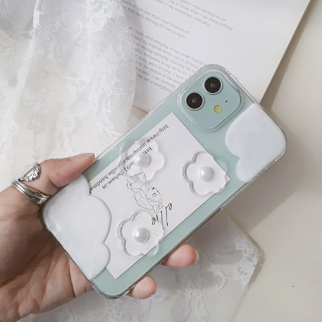クリアフラワーiPhoneケース