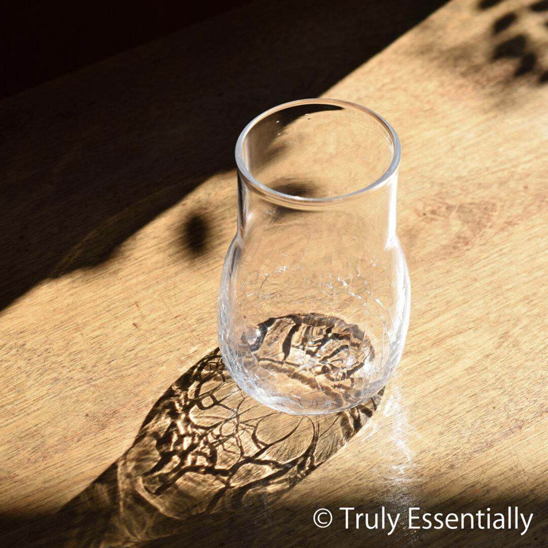 無色透明のグラス - 「KAZEの肌 」#399・ 高さ11cm●【 1点限定制作 】