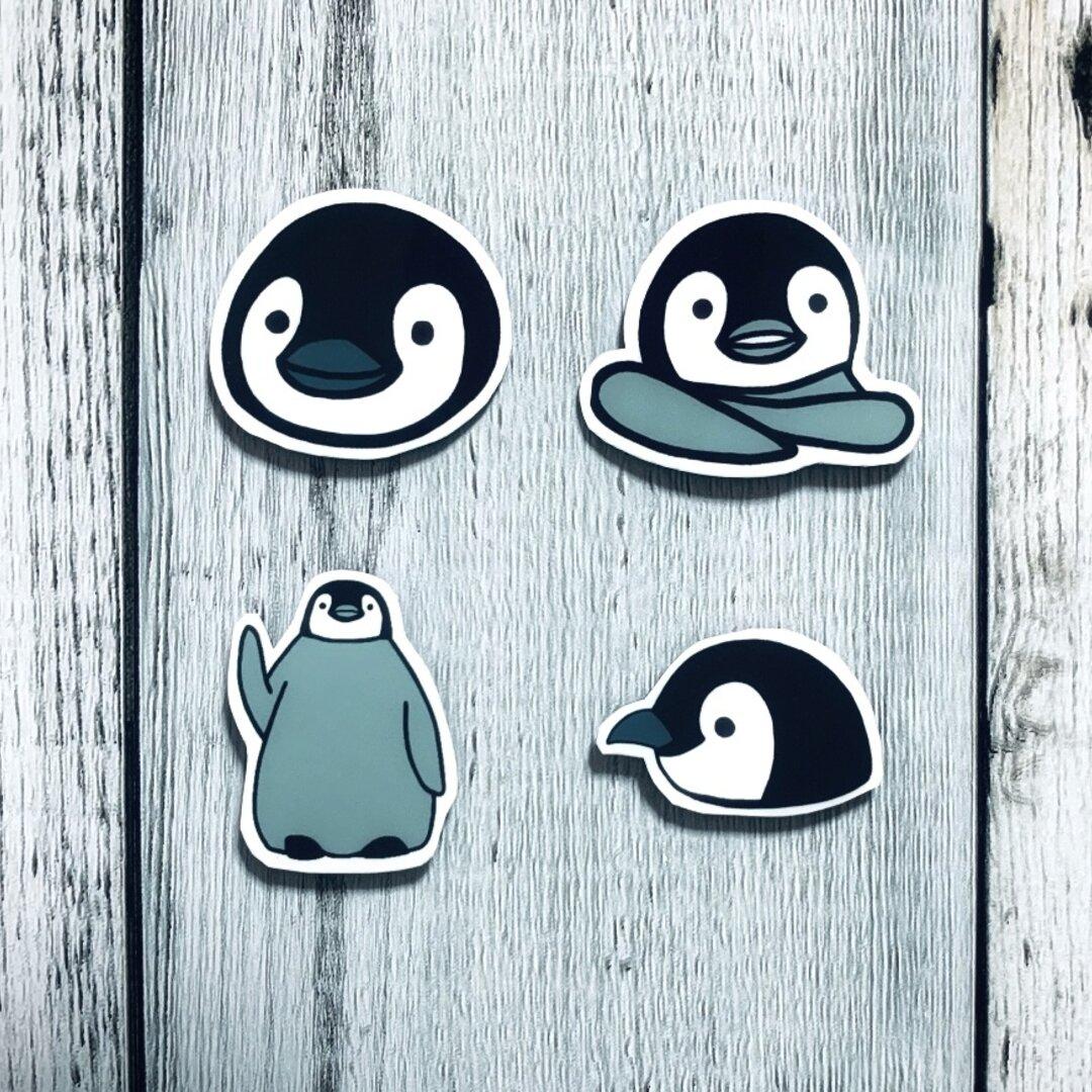 ペンギンのマグネット4つセット