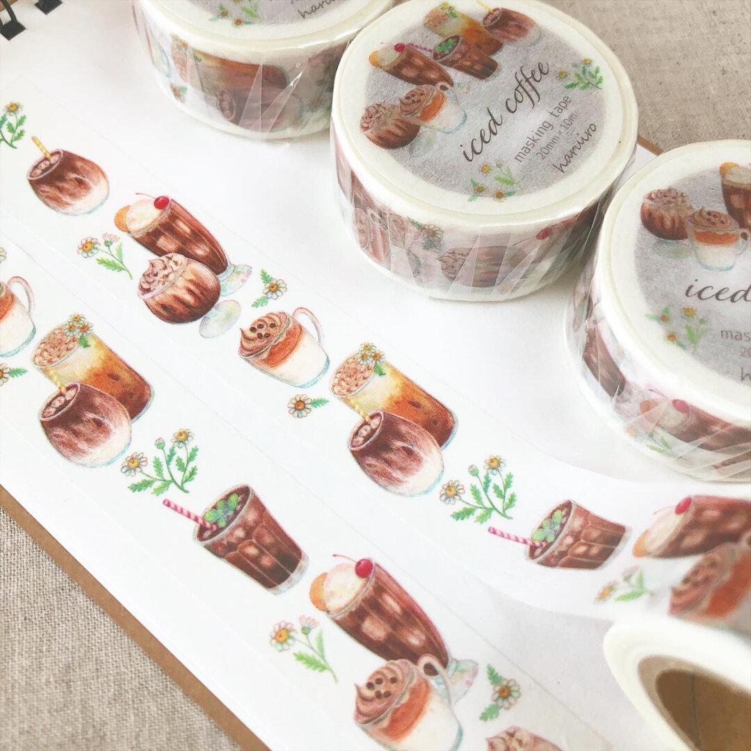 アイスコーヒー マスキングテープ(Washi tape)