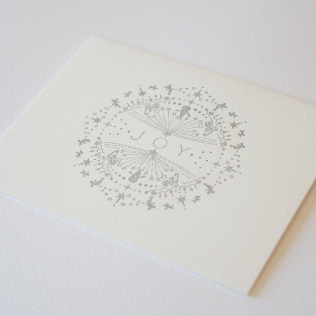 活版印刷 クリスマスカード 〜JOY
