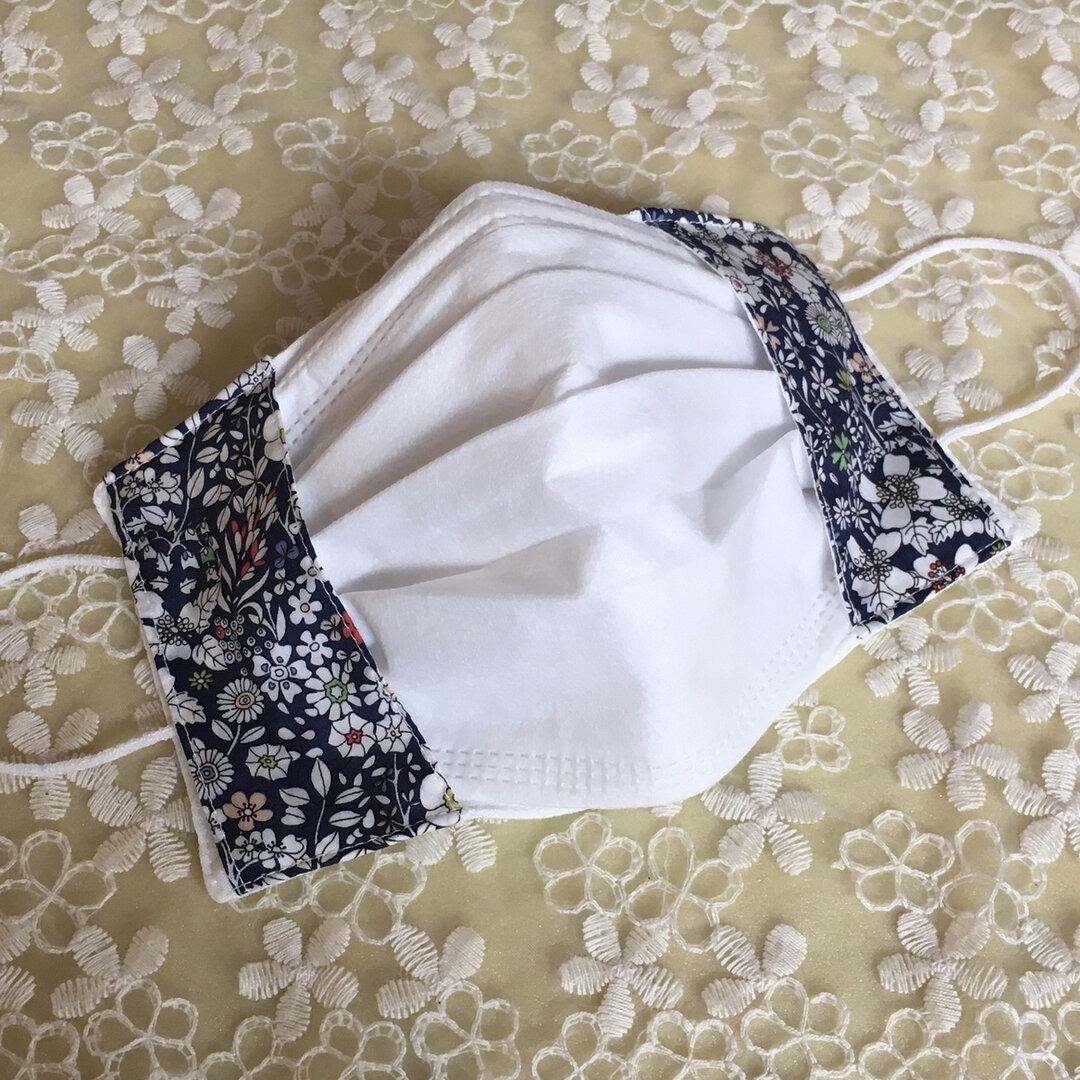不織布マスクカバー 接触冷感生地使用