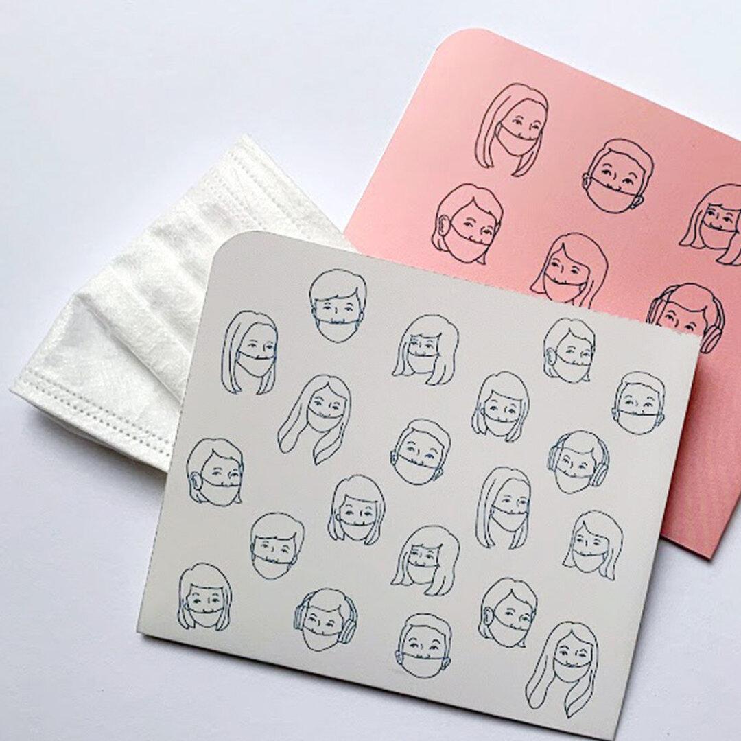 マスクケース 2枚セット(紙製)