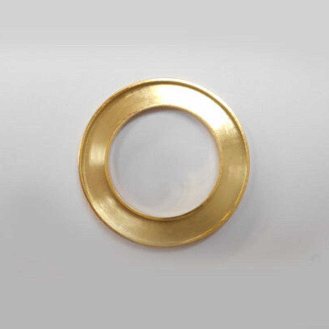 S◆Pキラキラ アクセサリー パーツ サークル 円形 チャーム 外径:23.0mm 手作り (ハンドメイド) ペンダントフレーム パーツ ステンレス316L (ゴールド)