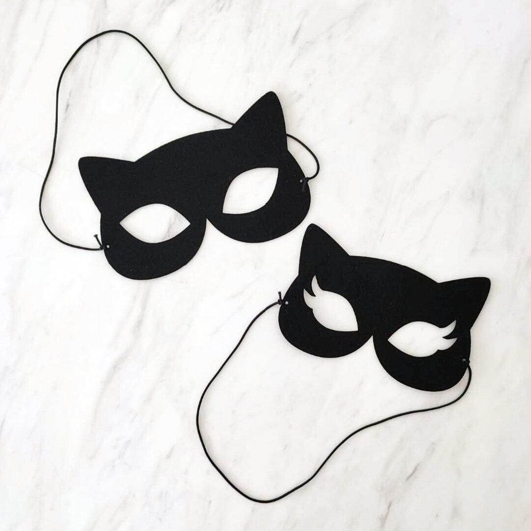 ハロウィンマスク/コスプレ ハロウィーン アイマスク 黒ネコ コウモリ