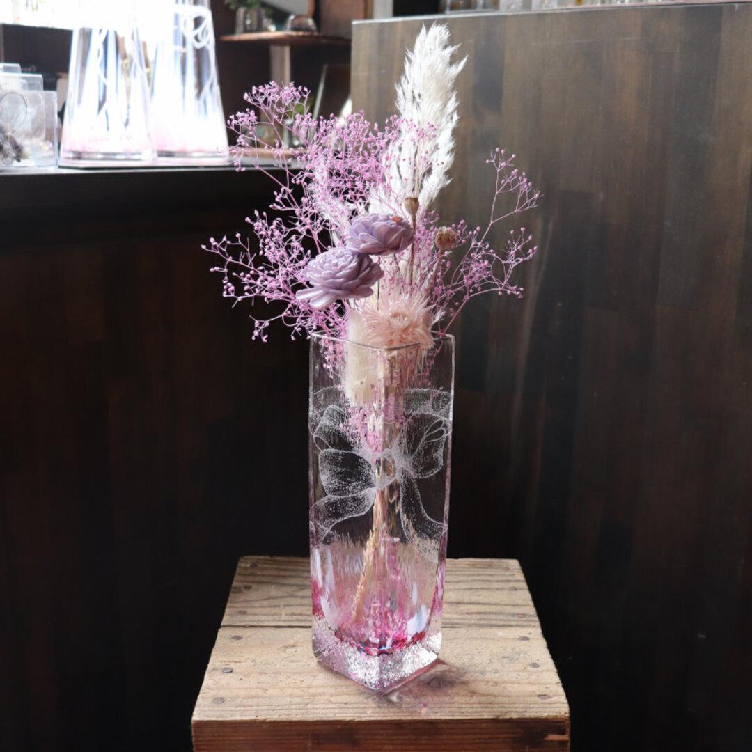 花束みたいなリボンの花瓶 角形 #1