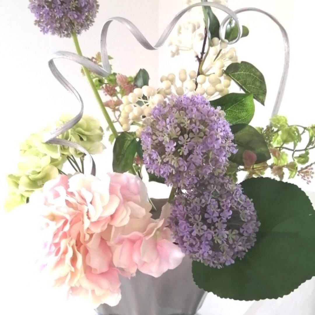 セール!🌸和モダン インテリア🌸 44㎝ 新築 開店祝い アジサイとギガンジューム「涼」母の日 新築祝い 各種お祝い