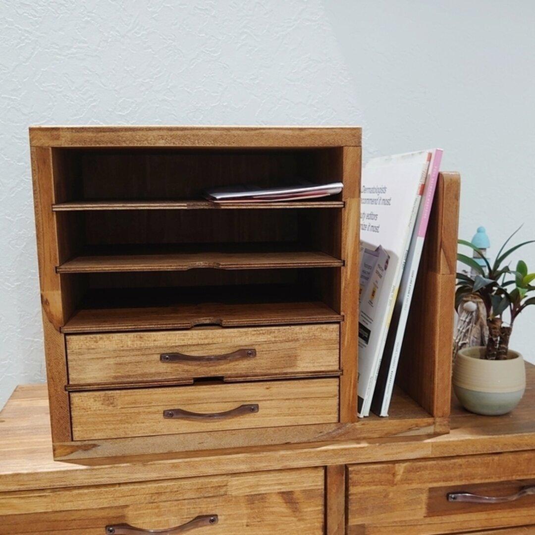 ちょっとした本棚が便利!アンティーク調レターケース
