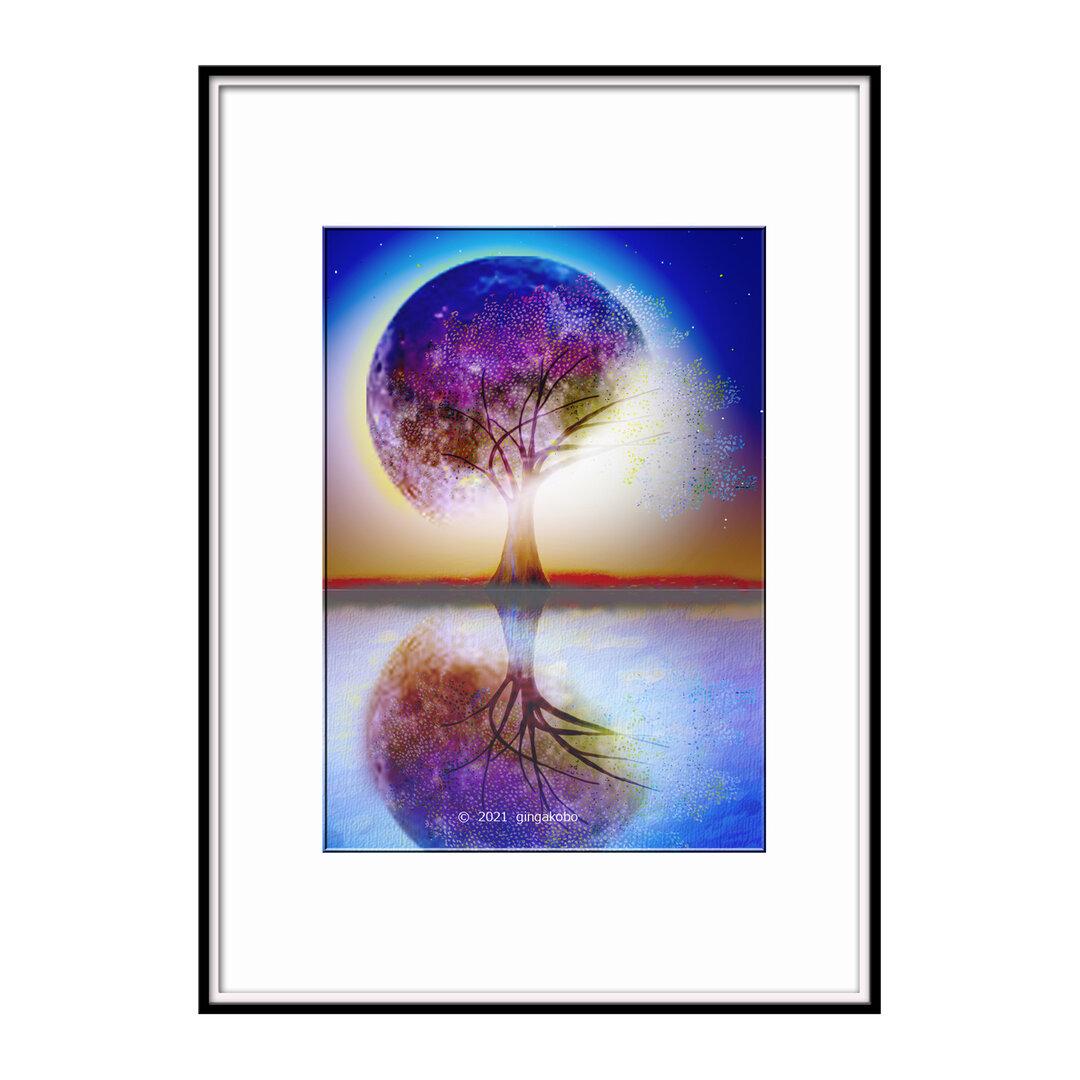 「エピローグ 一隅を照らして」 月 木 ほっこり癒しのイラストA4サイズポスター No.798