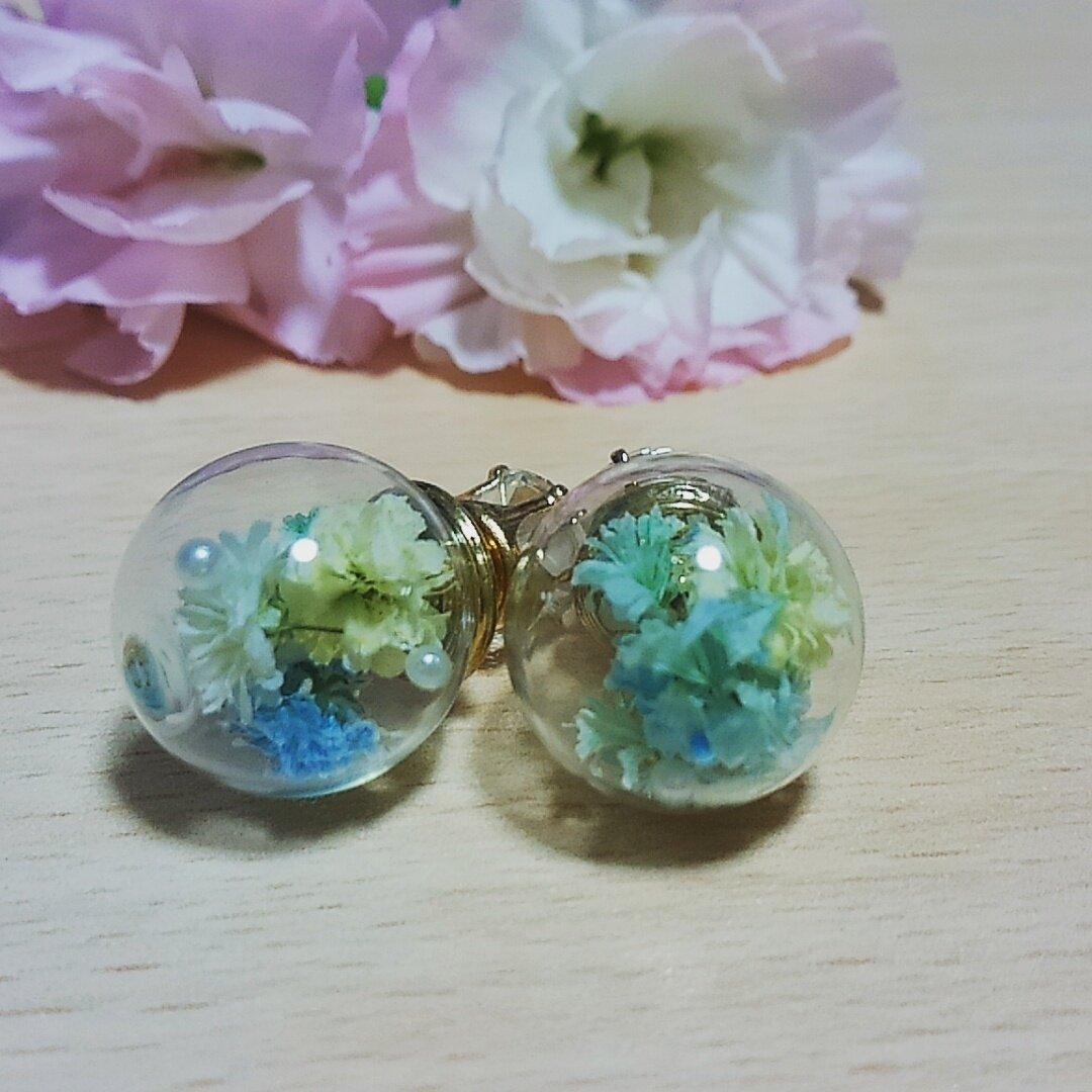 02◇【winter】ガラスドームピアス
