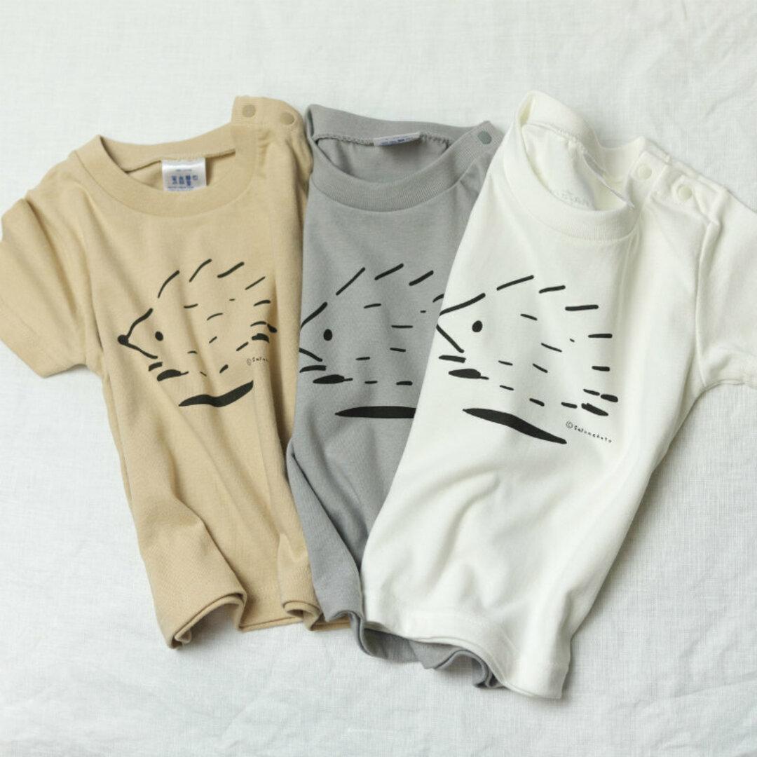 はしるハリネズミ / HYGGELIG × satonekoto アウトドア キャンプ キッズTシャツ H301