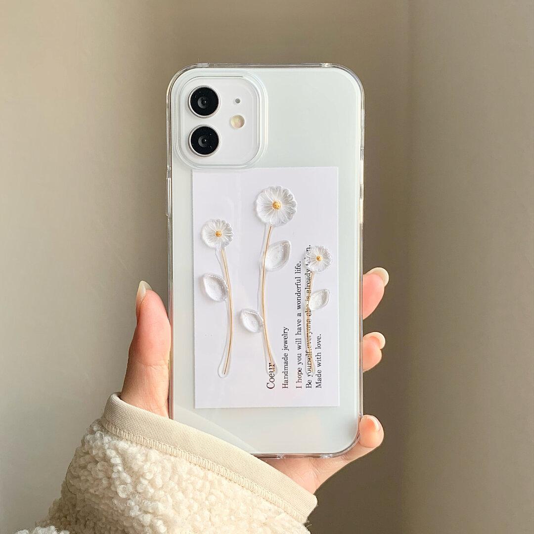 マーガレットのiPhoneケース coeur iPhone対応 iPhone12 iPhone12pro iPhone12mini iPhone11 iPhone11pro iPhoneXs 等