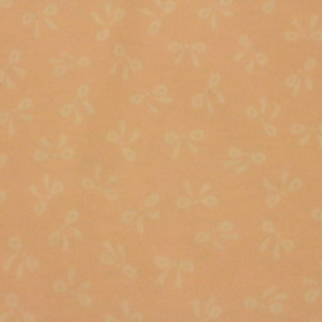 スムース生地 ニット生地 リボン柄  ピンク色  108㎝巾×50㎝