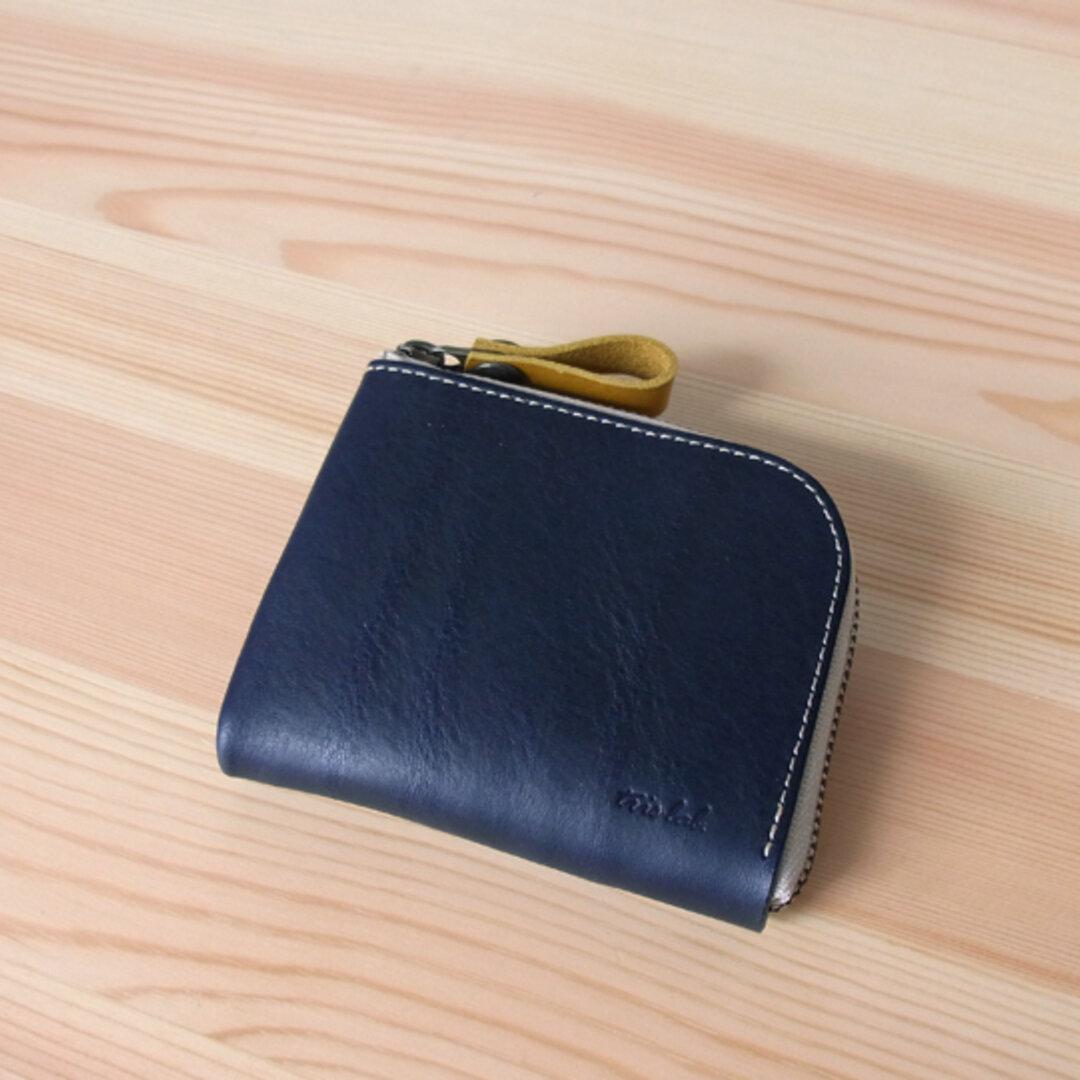ちいさなお財布 新色〈ネイビーブルー〉イタリアレザー