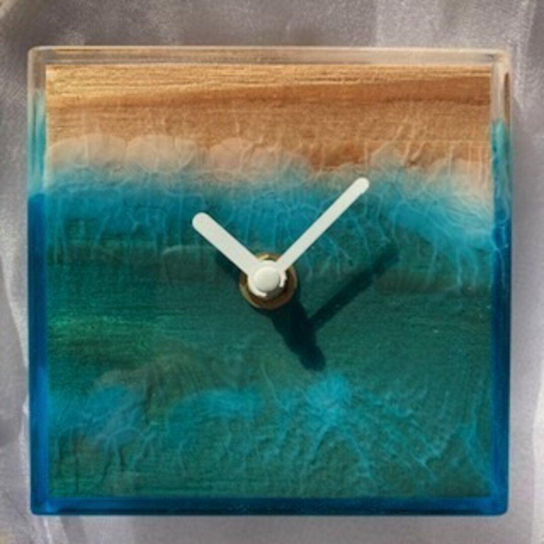 レジン クロック ウッド おしゃれ かっこいい 壁掛け時計(No23