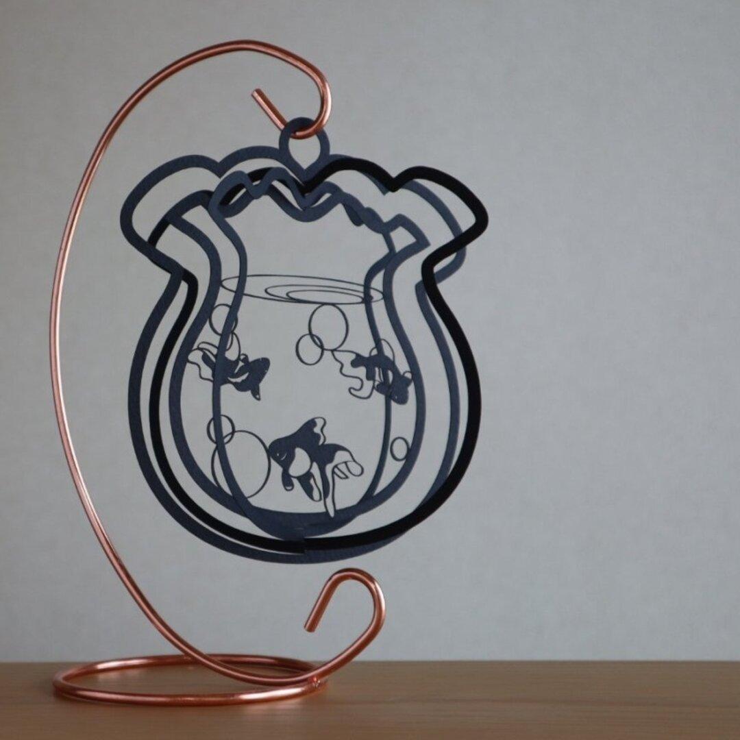 Air ornament 金魚鉢(黒)