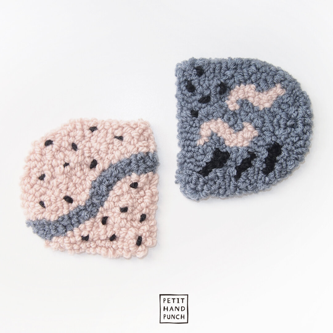 【2枚セット】絨毯 コースター   サンド