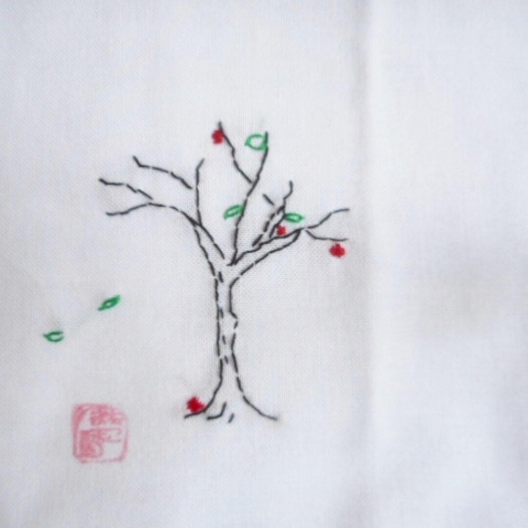 ナフキン ハンカチ 手刺繍 晩秋