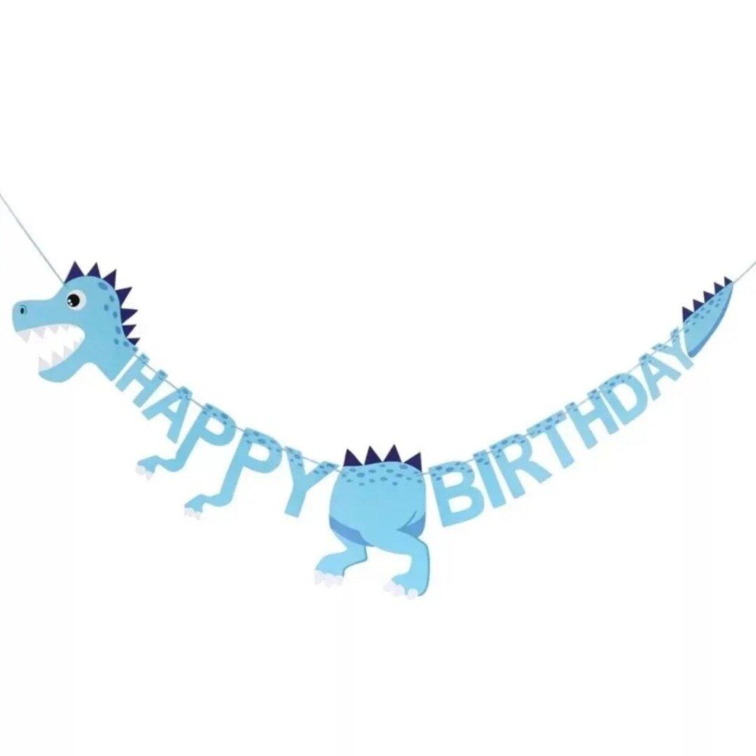 751恐竜ガーランドお祝い誕生日お祝い飾り 青