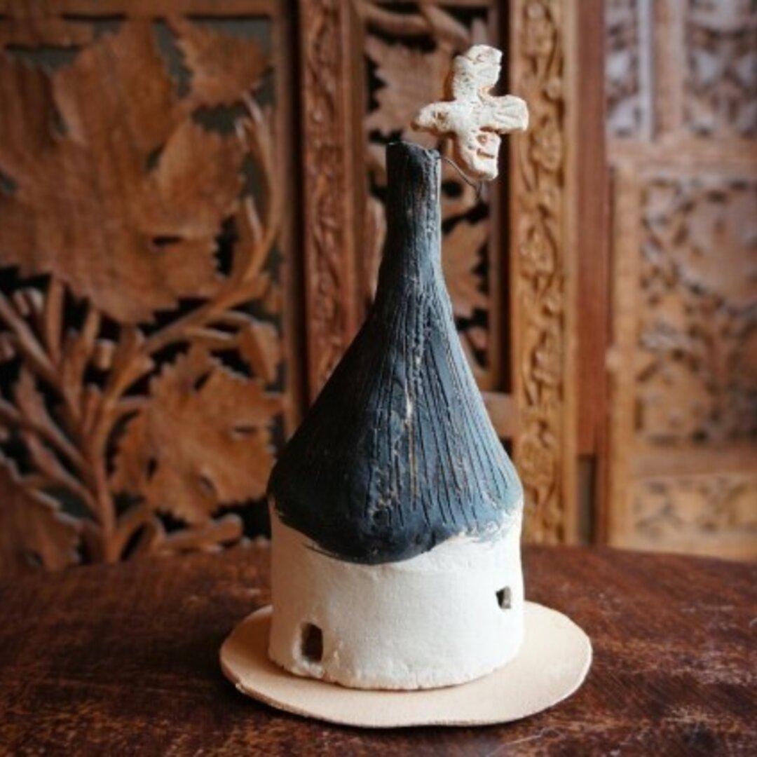 【受注制作】 鳥と煙突の家 香炉 L