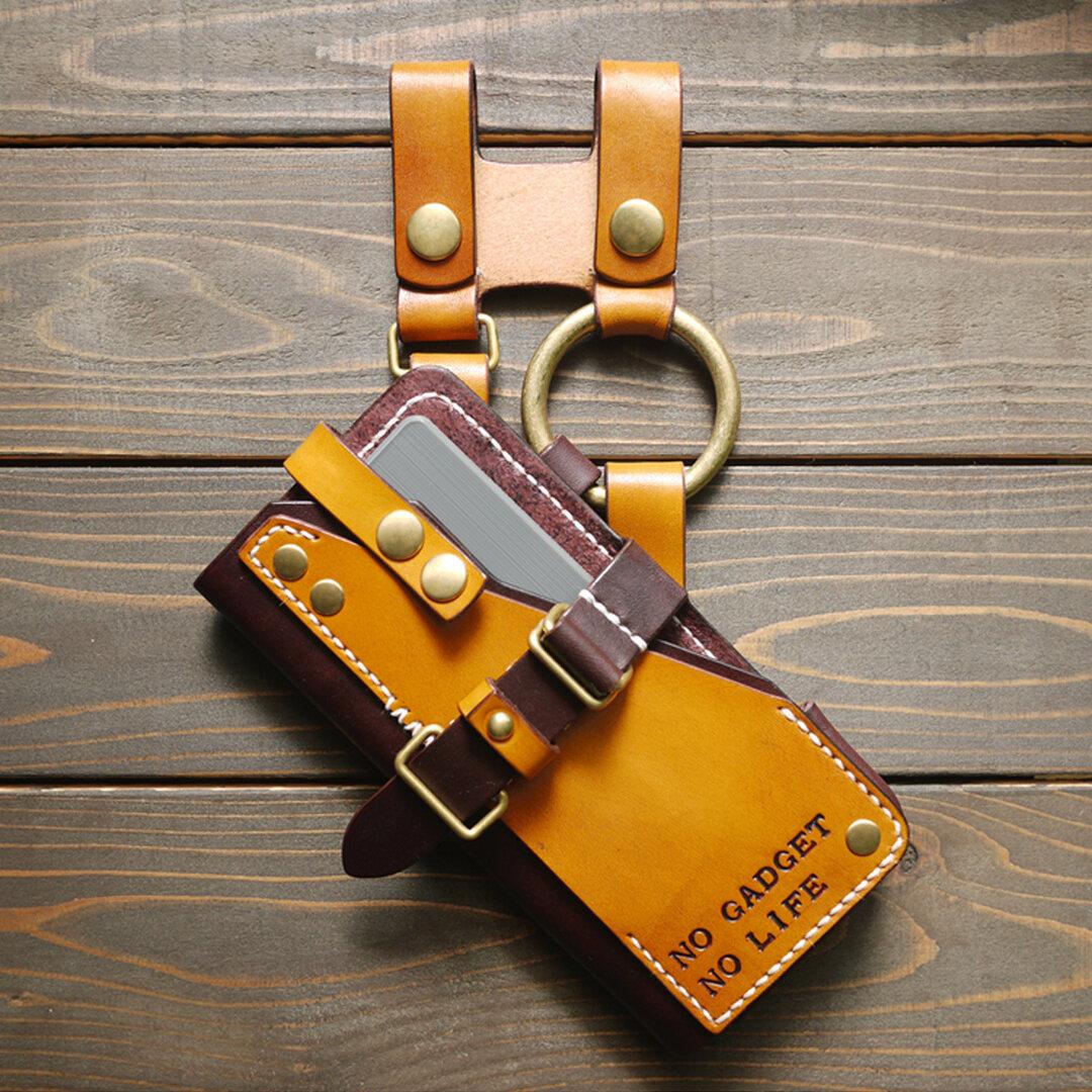 xperia 1 III orizontas 01 サイズ4L レザースマートフォンホルスター スチームパンク 牛革 ハンドメイド【受注生産】