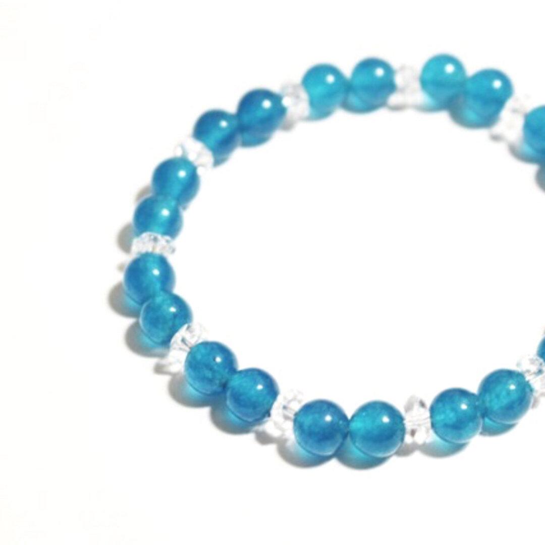 ◆*御守り--blue jade…◆ 天然石ブレスレット