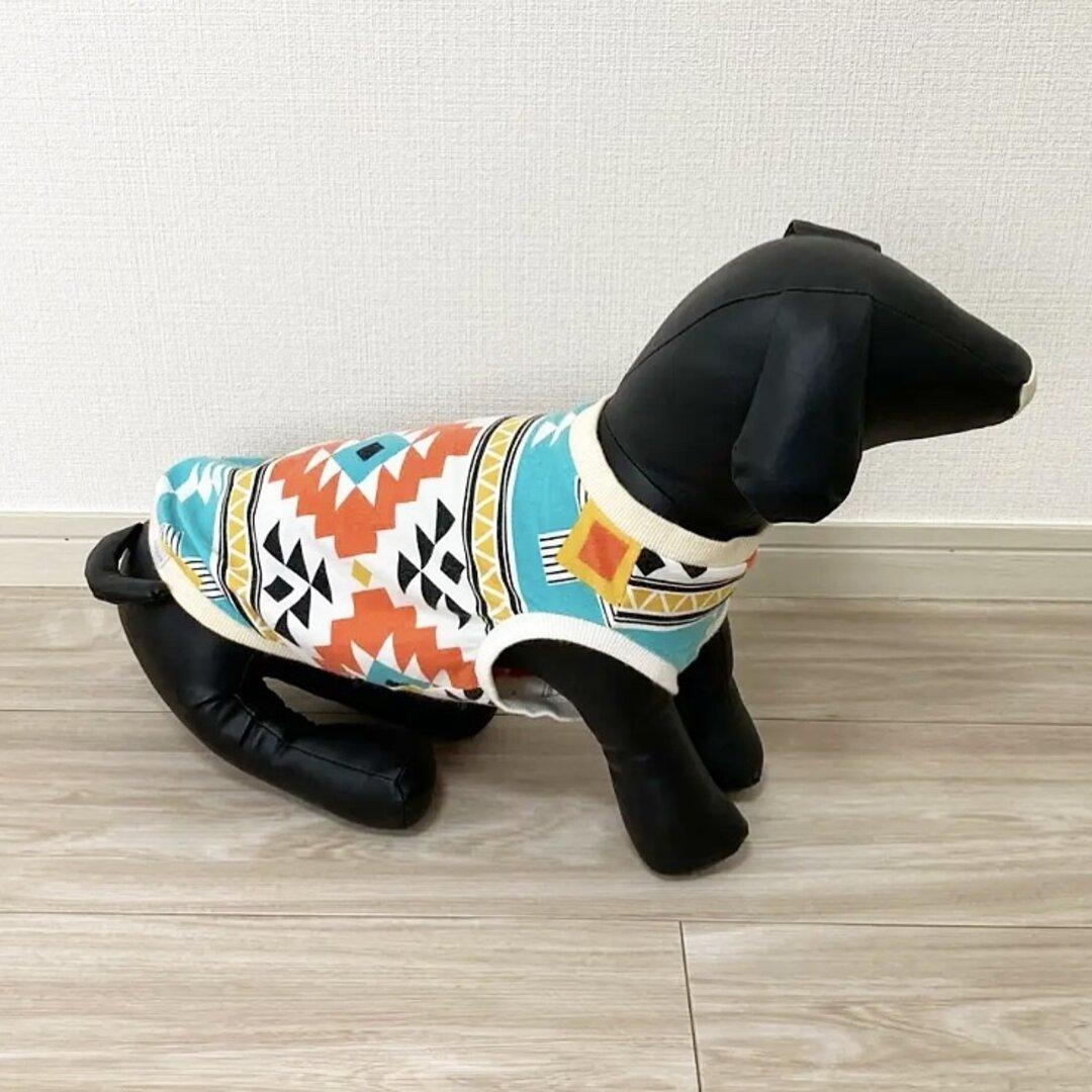 ネイティブ柄 エメラルド❤︎ タンクトップ ドッグウェア 犬服