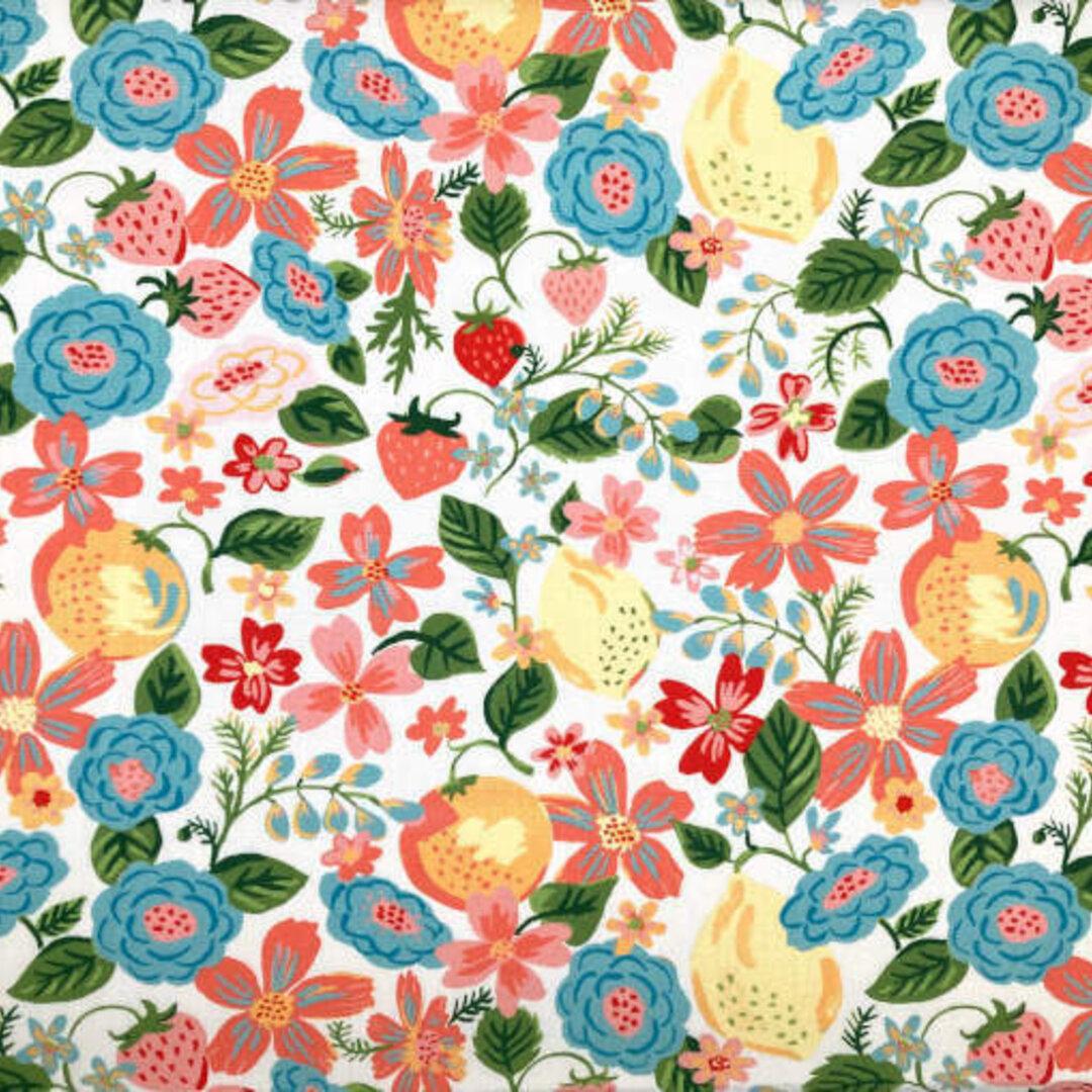 アメリカMonaluna プリント生地 カットクロス Vintage 74 オーチャード フラワー 花