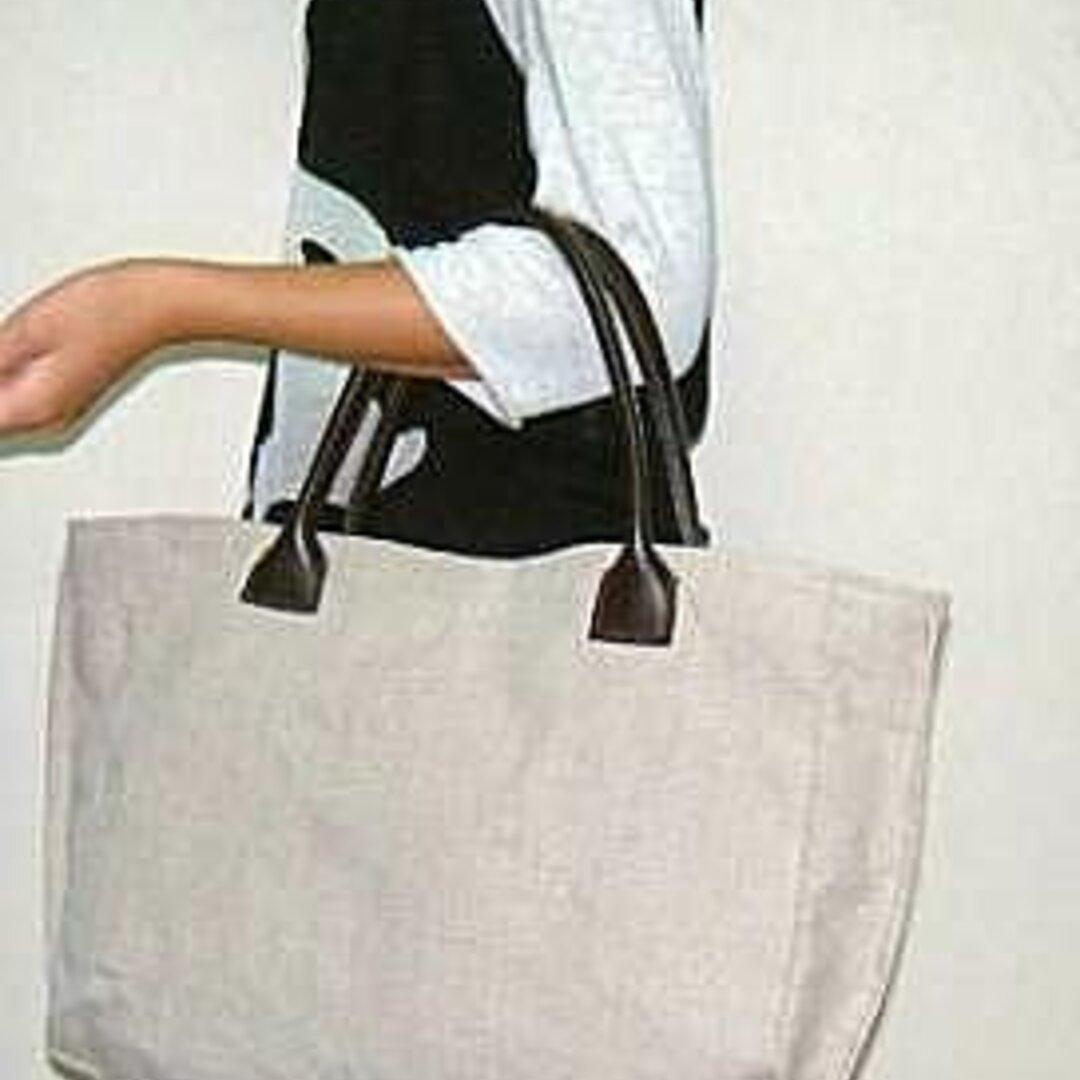 麻のトートバッグ