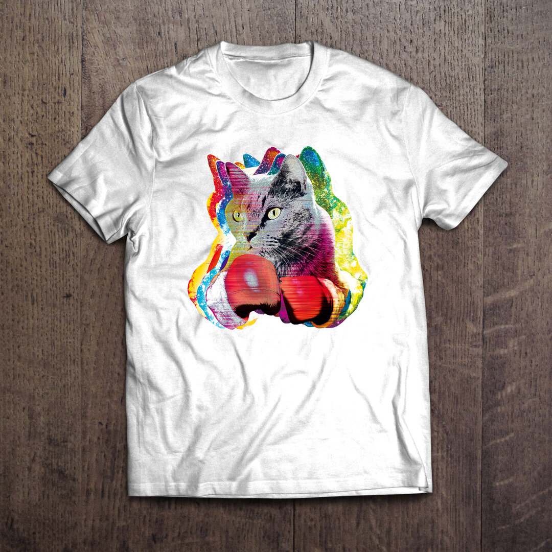 ボクシングねこTシャツ「Boxer Cats」