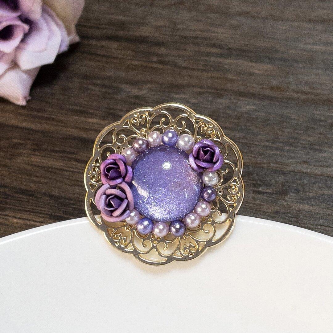 紫の薔薇のポニーフック