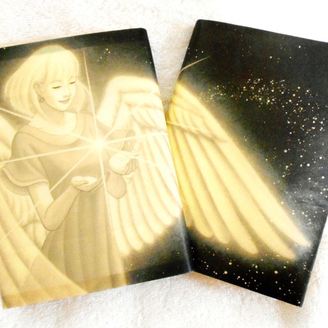 天使のブックカバー ナチュラル/セピアタイプ ゆったり文庫本サイズ 水や汚れに強く丈夫!! ワックスペーパー