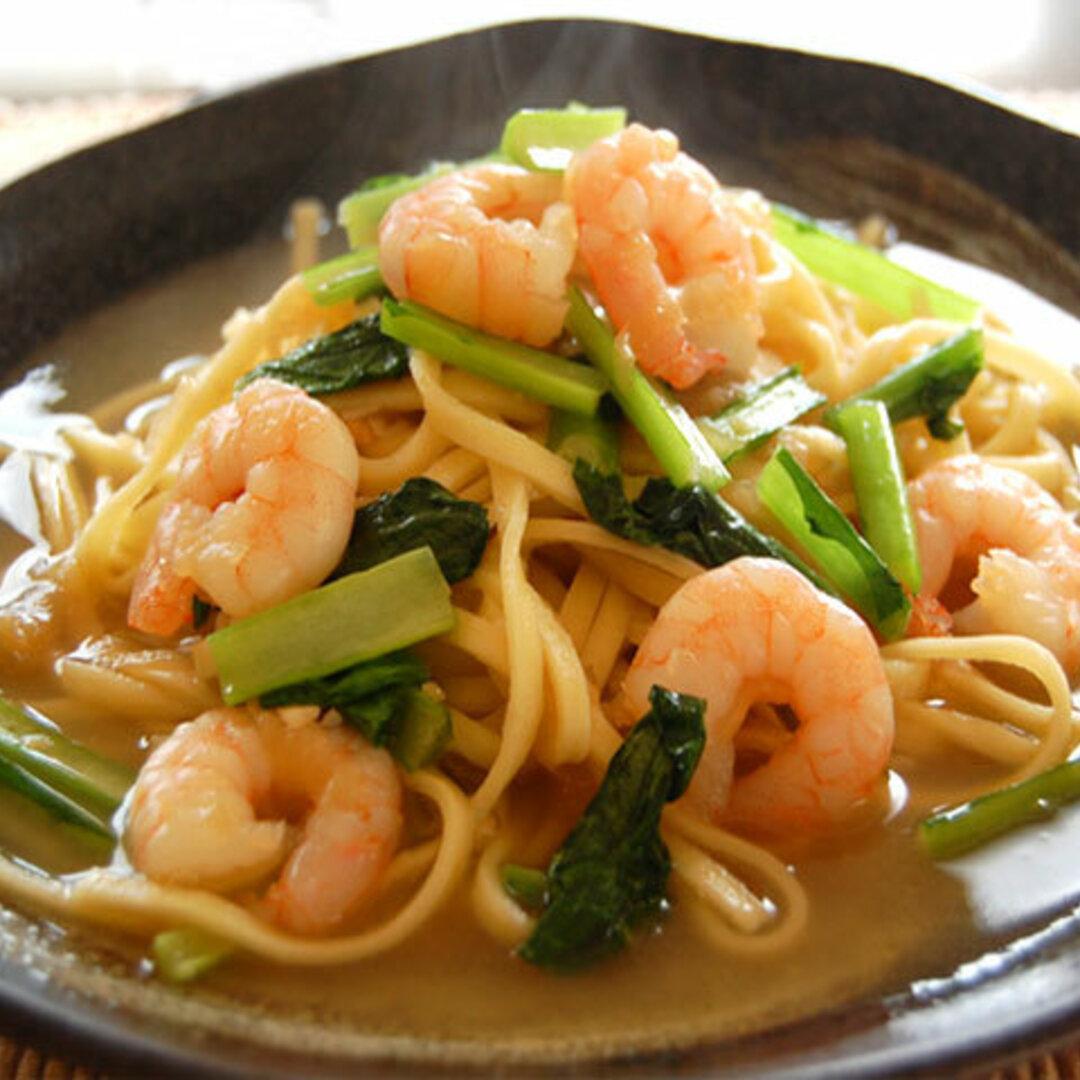 【生パスタ麺&和風スープ】 海老と小松菜の和風 1人前