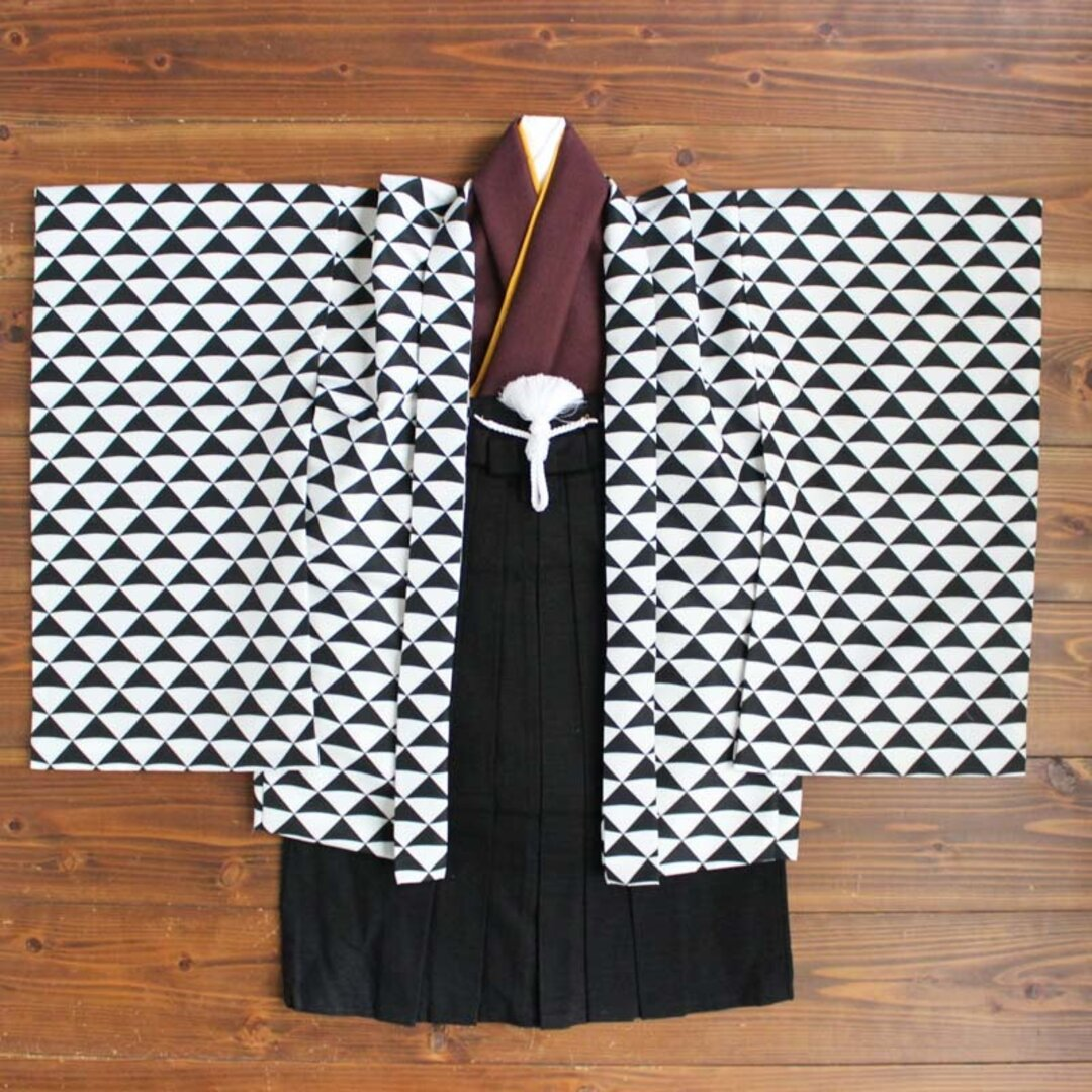 ◆羽織袴セット/ウロコ墨色/5歳【受注生産】