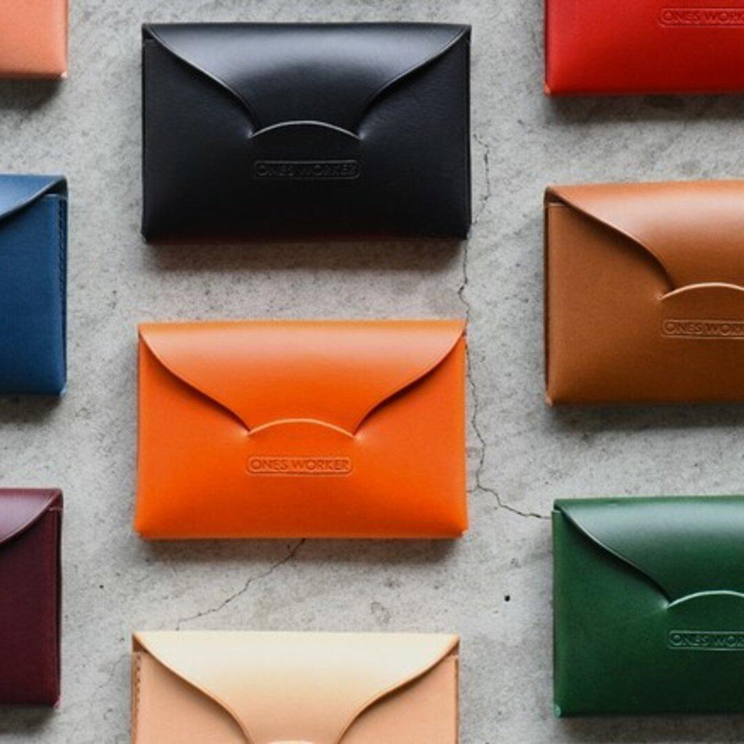 【カラーオーダー】ブッテーロ 手縫い名刺入れ■ビジネスカードケース■名入れ可能