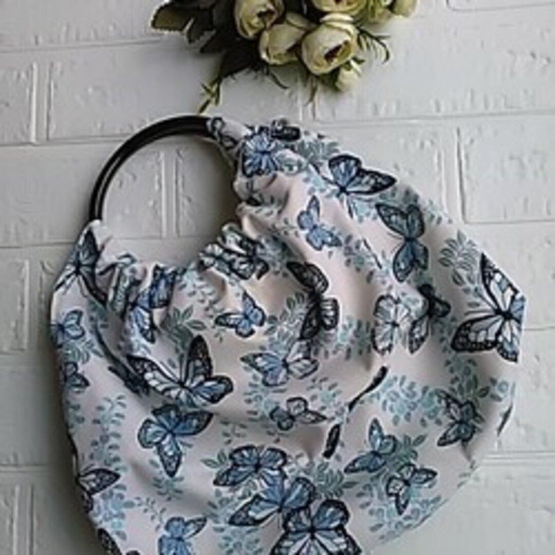リングバッグ★パステル調 藤の花 × 蝶の舞 選べる2色 ちょっとそこまで